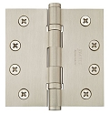 Emtek 4 Inch Steel Ball Bearing Door Hinges with Square Corners  (pair)