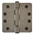 Emtek 4 Inch Steel Ball Bearing Door Hinges with 1/4 Inch Round Corners  (pair)