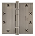 Emtek 5 Inch Solid Brass Ball Bearing Door Hinges with Square Corners  (pair)