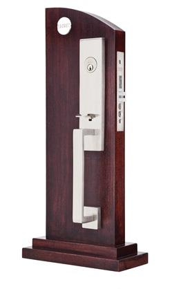 Emtek door hardware emtek stainless steel mormont mortise entry handleset for Stainless steel exterior door handles