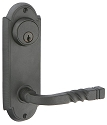 Emtek Wrought Steel #5 (7 1/8 Inch) KEYED Sideplate Lock for 3 5/8 Inch Bore