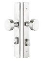 Emtek 11 Inch Stainless Steel KEYED Sideplate Lock for Non-Standard Bore Holes