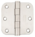 Emtek 3.5 Inch Stainless Steel Residential Duty Door Hinges with 5/8 Inch Radius Corners (pair)