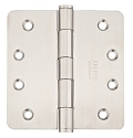 Emtek 4 Inch Stainless Steel Heavy Duty Door Hinges with 1/4 Inch Radius Corners (Pair)