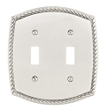 Emtek Rope Double Switch Plate