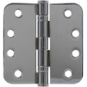 PHG 4 Inch Commercial Grade Ball Bearing Hinge with 5/8 Inch Radius Corners (each)