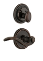 Grandeur Georgetown Handleset with Bellagio Lever - (Interior Half Only, with Deadbolt)