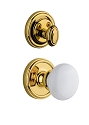 Grandeur Georgetown Handleset with Hyde Park Knob - (Interior Half Only, with Deadbolt)