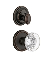 Grandeur Georgetown Handleset with Bordeaux Knob - (Interior Half Only, with Deadbolt)