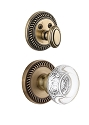 Grandeur Newport Handleset with Bordeaux Knob - (Interior Half Only, with Deadbolt)