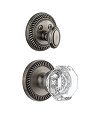 Grandeur Newport Handleset with Chambord Knob - (Interior Half Only, with Deadbolt)