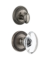 Grandeur Newport Handleset with Provence Knob - (Interior Half Only, with Deadbolt)