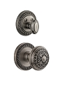 Grandeur Newport Handleset with Windsor Knob - (Interior Half Only, with Deadbolt)