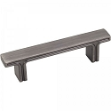 Hardware Resources Anwick 3 Inch CC Rectangle Cabinet Pull - Brushed Pewter