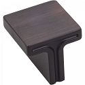 Hardware Resources Anwick 1-1/8 Inch Square Cabinet Knob- Brushed Oil-Rubbed Bronze