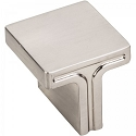 Hardware Resources Anwick 1-1/8 Inch Square Cabinet Knob - Satin Nickel