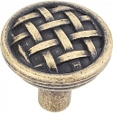 Hardware Resources Ashton 1-5/16 Inch Cabinet Knob - Distressed Antique Brass