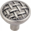 Hardware Resources Ashton 1-5/16 Inch Cabinet Knob - Distressed Pewter