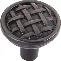 Hardware Resources Ashton 1-5/16 Inch Cabinet Knob - Brushed Oil-Rubbed Bronze