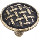 Hardware Resources Ashton 1-5/8 Inch Cabinet Knob - Distressed Antique Brass