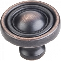 Hardware Resources Bella 1-3/8 Inch Cabinet Knob - Brushed Oil-Rubbed Bronze