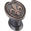 Hardware Resources Bienville 1-5/16 Inch Cabinet Knob- Brushed Oil-Rubbed Bronze
