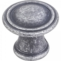 Hardware Resources Chesapeake Cabinet Knob in Distressed Antique Silver