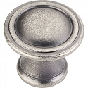 Hardware Resources Cordova Cabinet Knob in Distressed Pewter