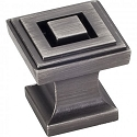 Hardware Resources Delmar Cabinet Knob in Brushed Pewter
