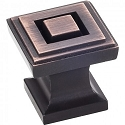 Hardware Resources Delmar Cabinet Knob in Brushed Oil Rubbed Bronze