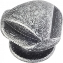 Hardware Resources Chesapeake 1-5/16 Inch Cabinet Knob - Distressed Antique Silver