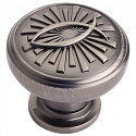 Hardware Resources Curio 1-3/8 Inch Cabinet Knob - Brushed Pewter