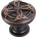 Hardware Resources Curio 1-3/8 Inch Celtic Cabinet Knob - Brushed Oil-Rubbed Bronze