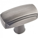 Hardware Resources Delgado 1-9/16 Inch Cabinet Knob - Brushed Pewter