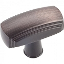 Hardware Resources Delgado 1-9/16 Inch Cabinet Knob - Brushed Oil-Rubbed Bronze
