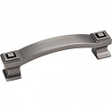Hardware Resources Delmar 96mm CC Cabinet Pull - Brushed Pewter