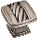 Hardware Resources Encada 1-3/16 Inch Cable Cabinet Knob- Brushed Pewter