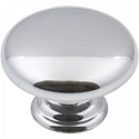 Hardware Resources Gatsby 1-3/16 Inch Mushroom Cabinet Knob - Polished Chrome