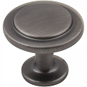 Hardware Resources Gatsby 1-1/4 Inch Cabinet Knob - Brushed Pewter