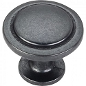 Hardware Resources Gatsby 1-1/4 Inch Cabinet Knob - Gun Metal