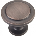 Hardware Resources Gatsby 1-1/4 Inch Cabinet Knob - Brushed Oil-Rubbed Bronze