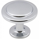 Hardware Resources Gatsby 1-1/4 Inch Cabinet Knob - Polished Chrome