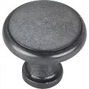 Hardware Resources Gatsby 1-1/8 Inch Cabinet Knob - Gun Metal