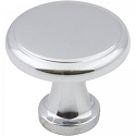 Hardware Resources Gatsby 1-1/8 Inch Cabinet Knob - Polished Chrome