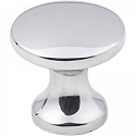 Hardware Resources Geneva 1 Inch Cabinet Knob- Polished Chrome