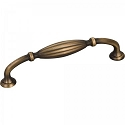 Hardware Resources Glenmore 128mm CC Ribbed Cabinet Pull - Antique Brushed Satin Brass