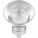 Hardware Resources Harlow 1-3/4 Inch Glass Button Cabinet Knob - Polished Chrome