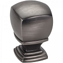 Hardware Resources Katharine 1 Inch Cabinet Knob - Brushed Pewter