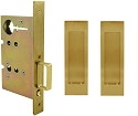 Inox PD8010 Mortise Pocket Door Passage w/ Lockcase, FH27 Linear Flush Pull