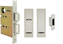 Inox PD8460 Mortise Pocket Door Patio Lockset, FH27 Linear Flush Pull